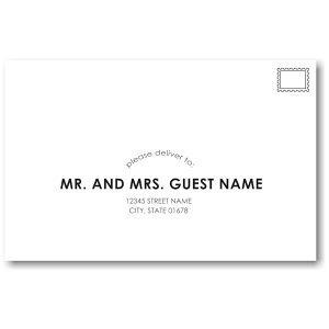Initialed Elegance in Black Guest Addressing Envelope