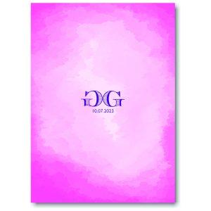 Modern Watercolor in Pink Bnot Mitzvah Invitation Backside