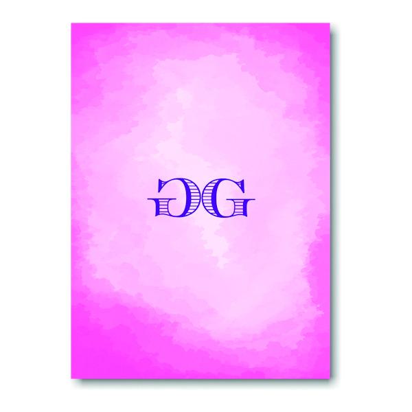 Modern Watercolor in Pink Informal Note