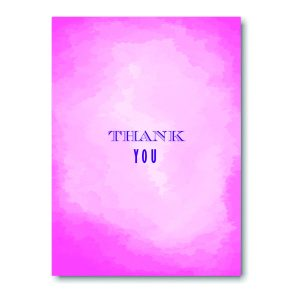 Modern Watercolor in Pink Thank You Note
