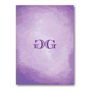 Modern Watercolor in Purple Informal Note