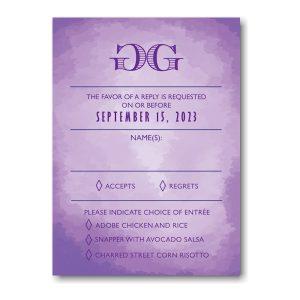 Modern Watercolor in Purple Response Card