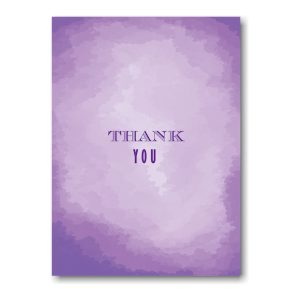 Modern Watercolor in Purple Thank You Note