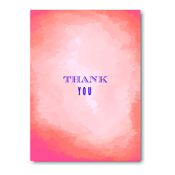 Modern Watercolor in Tangerine Thank You Note
