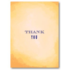 Modern Watercolor in Yellow Thank You Note