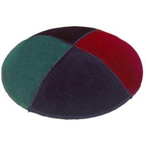 4 Multicolor Suede Yarmulke