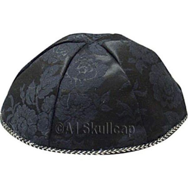 Black Brocade Yarmulke
