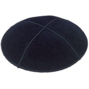 Black Suede Yarmulke