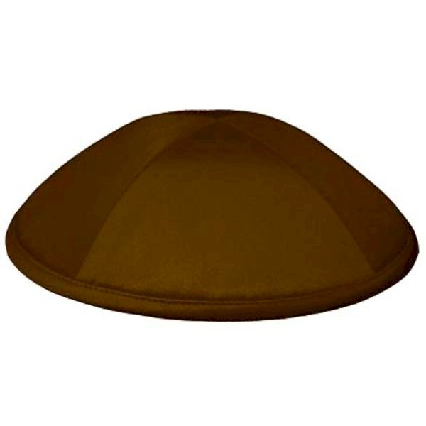 Brown Satin Deluxe Yarmulke