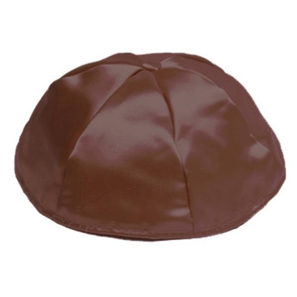 Brown Satin Yarmulke