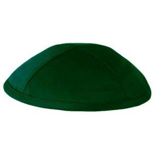 Dark Green Satin Deluxe Yarmulke