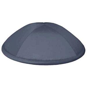Dark Grey Satin Deluxe Yarmulke