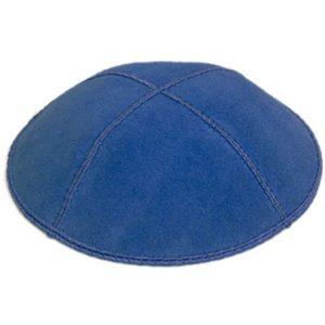 Dark Royal Blue Suede YarmulkeDark Royal Blue Suede Yarmulke