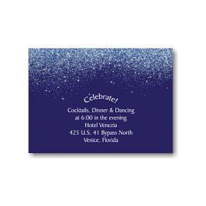 Falling Stardust Reception Card