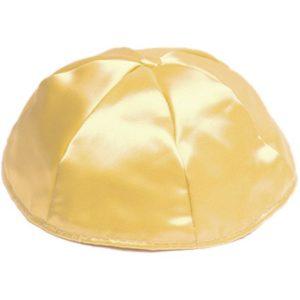 Gold Satin Yarmulke