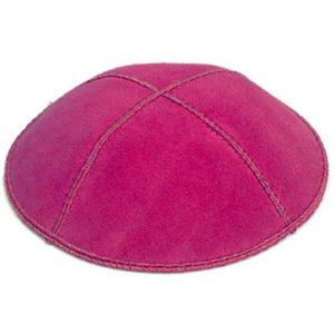 Hot Pink Suede Yarmulke