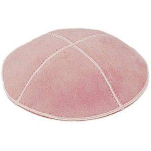 Light Pink Suede Yarmulke