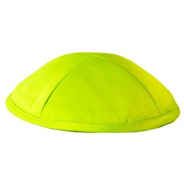 Lime Green Satin Deluxe Yarmulke