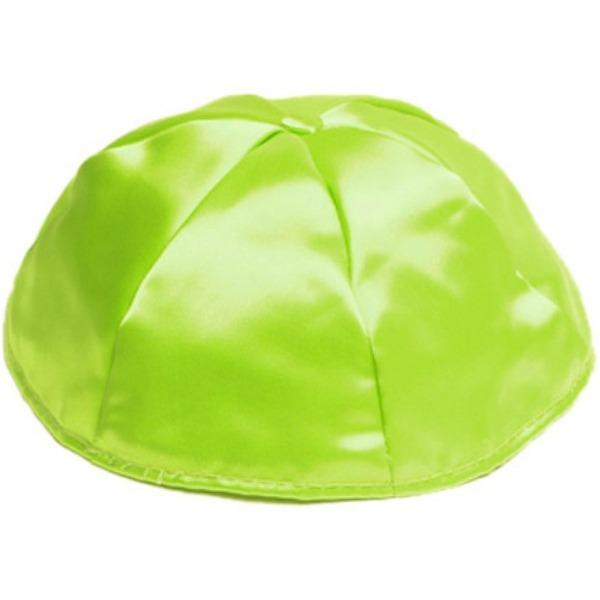Lime Green Satin Yarmulke