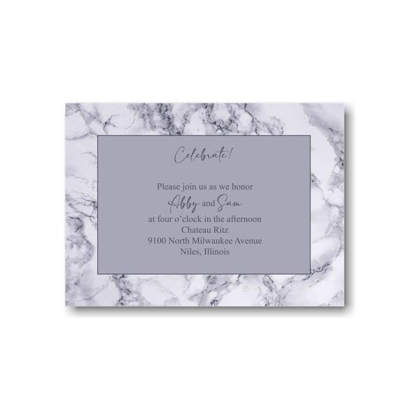 Modern Marble Reception Card