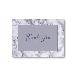 Modern Marble Thank You Note