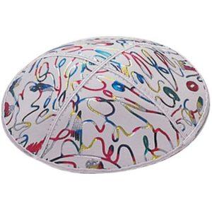 Multicolor Decorative Scribble Design Yarmulke