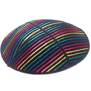 Multicolor Design Lines Yarmulke