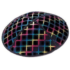 Multicolor Square Tiles Pattern Yarmulke