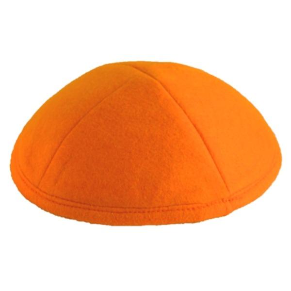 Orange Felt Yarmulke