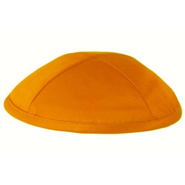 Orange Satin Deluxe Yarmulke