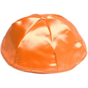 Orange Satin Yarmulke