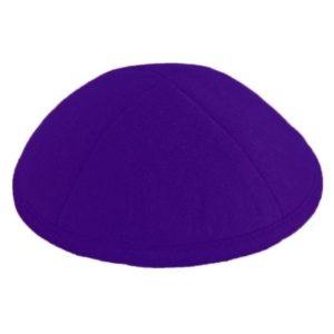 Purple Felt Yarmulke