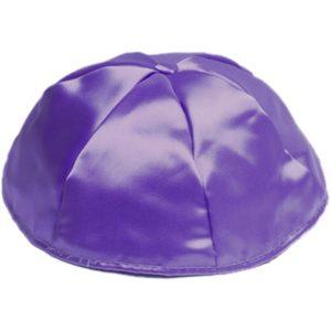 Purple Satin Yarmulke