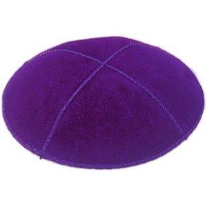 Purple Suede Yarmulke