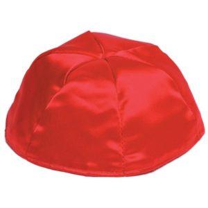 Red Satin Yarmulke