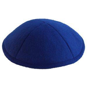 Royal Blue Felt Yarmulke