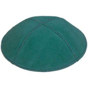 Teal Green Suede Yarmulke