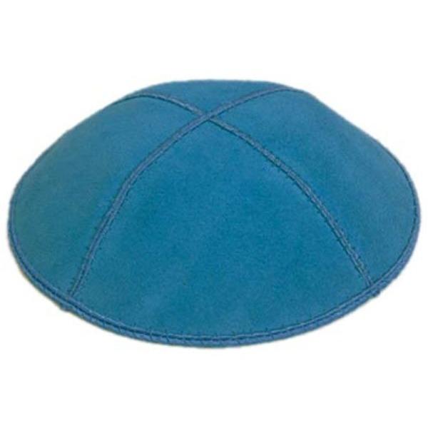 Western Blue Suede Yarmulke