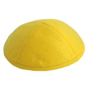Yellow Felt Yarmulke