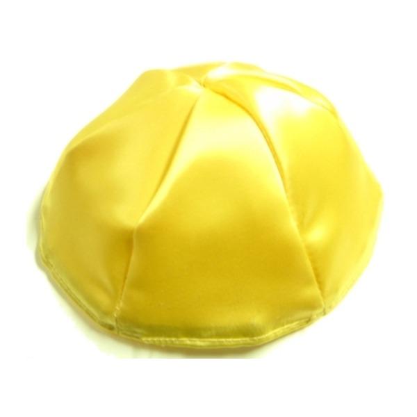 Yellow Satin Yarmulke