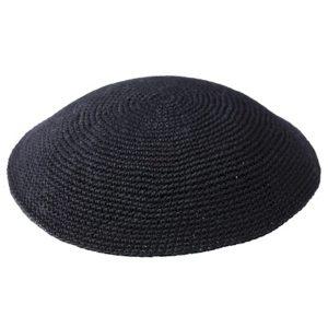Black Knit Yarmulke