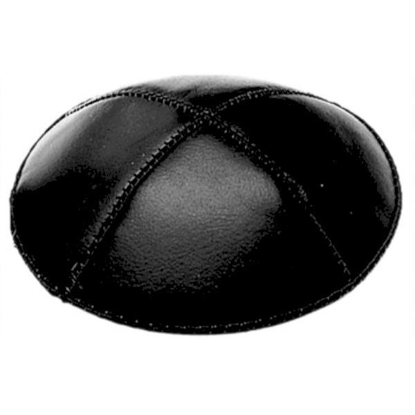 Black Leather Yarmulke