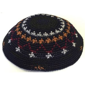 Multi Color Cotton Crochet Knit Yarmulke