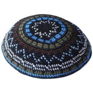Multi Color Design Knit Yarmulke