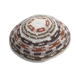 Multi Color Knit Yarmulke