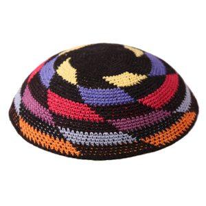 Multi Color Whirlpool Knit Yarmulke