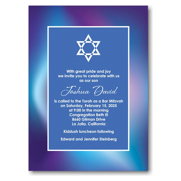 Mystical Mitzvah Bar Mitzvah Invitation