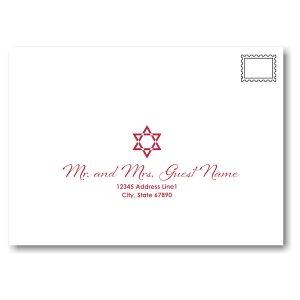 Mystical Mitzvah Bat Mitzvah Envelope Guest Addressing