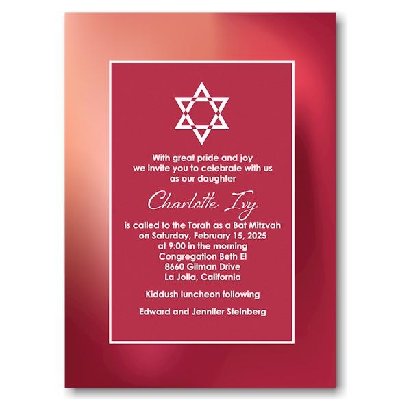 Mystical Mitzvah Bat Mitzvah Invitation