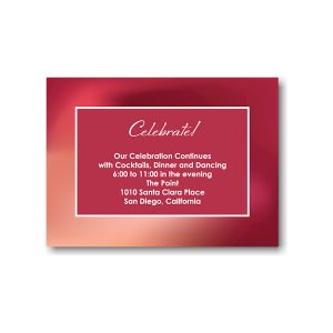 Mystical Mitzvah Bat Mitzvah Reception Card